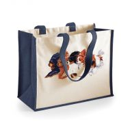 Jute Flying Cavaliers Shopper Bag