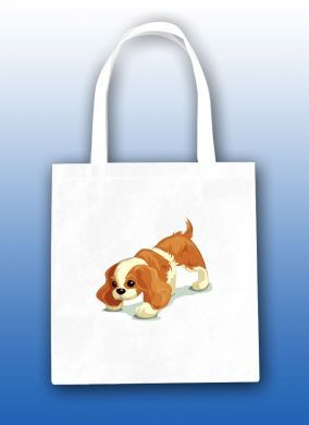 Standing Play Pup Tote Bag