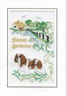 Embroidered Blenheim Birthday Cards - Six designs