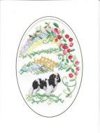 Embroidered Rainbow Bridge Card
