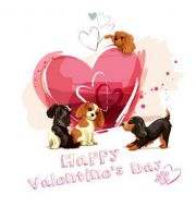 Puppy Love Valentines Card
