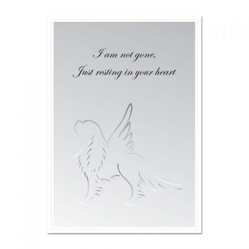 Cavalier Angel Condolence Card