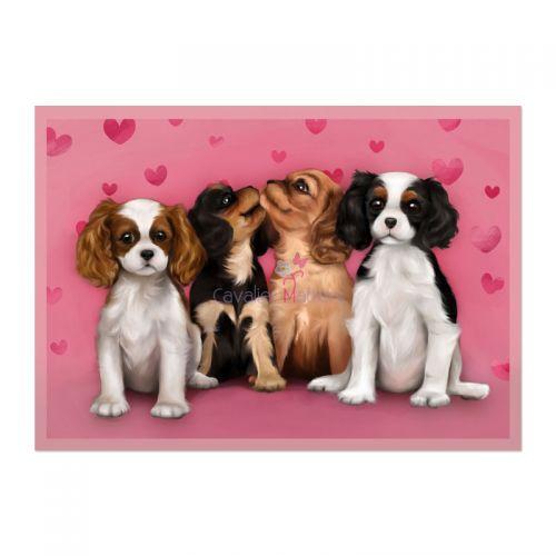 Cavalier Pups Valentine's Card