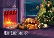 Sleepy Reindeer Card