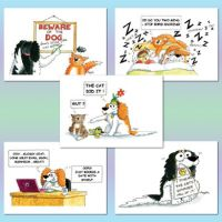 Frazzle Cartoon Cavaliers Notelet Cards