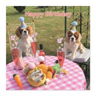 Party for Two Cavalier Birthday Card