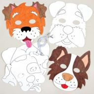 Dog Colouring in Masks