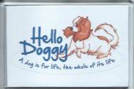 'Hello Doggy' Cavalier Fridge Magnet