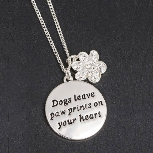 Paw & Dog Tag Necklace