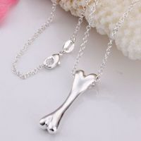 Silver Bone Pendant Necklace