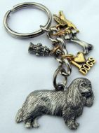 Cavalier About Town Pewter Keyring