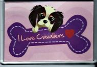 'Love Cavaliers' Fridge Magnet