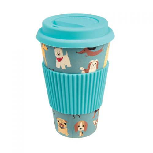 Dog Folk Bamboo Travel Mug