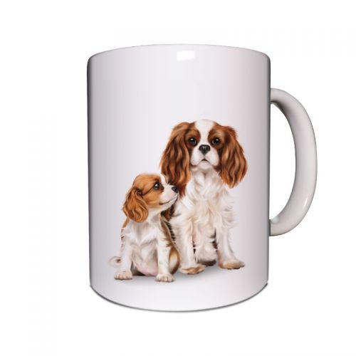 Cavalier Mum and Pup Mug