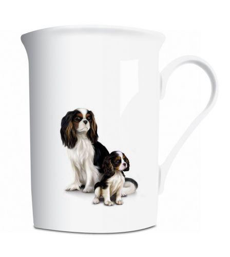 Bone China Cavalier Mum & Pup Mug
