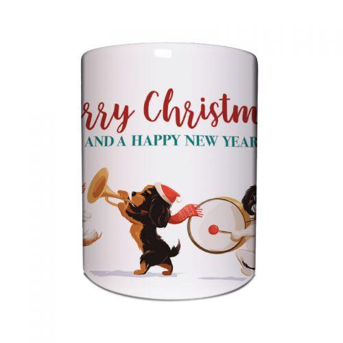 Merry Band of Cavaliers Christmas Mug