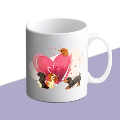 Cavalier Love Hearts Mug - Large