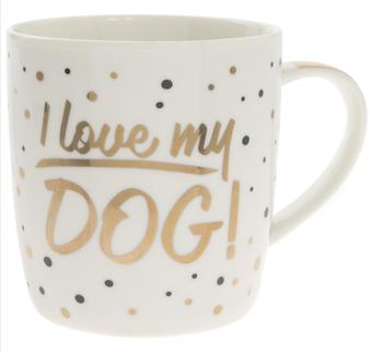 I Love my Dog Gold Edition Mug