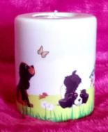 Cute Cavaliers Tea Light Holder