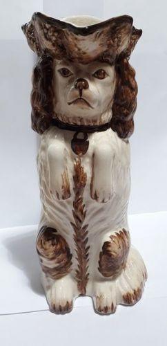 Vintage Staffordshire Spaniel Toby Jug