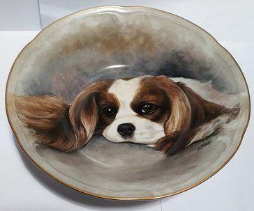 Hand painted James Skerrett signed bowl