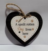 Small Heart 'Spoilt rotten' Sign