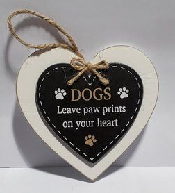 Small Heart Pawprints Sign