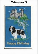 Embroidered Tricolour Birthday Cards - Three designs
