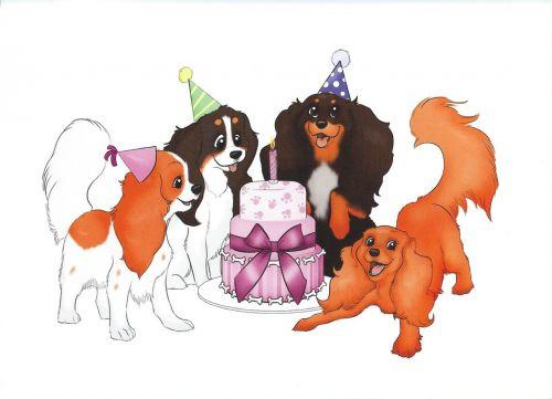 'A Cavalier Party' Birthday Card