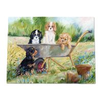 Flower Pot Pups Throw Blanket