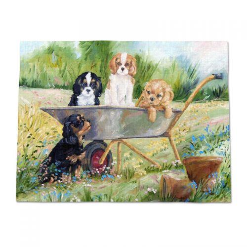 Flower Pot Pups Throw Blanket