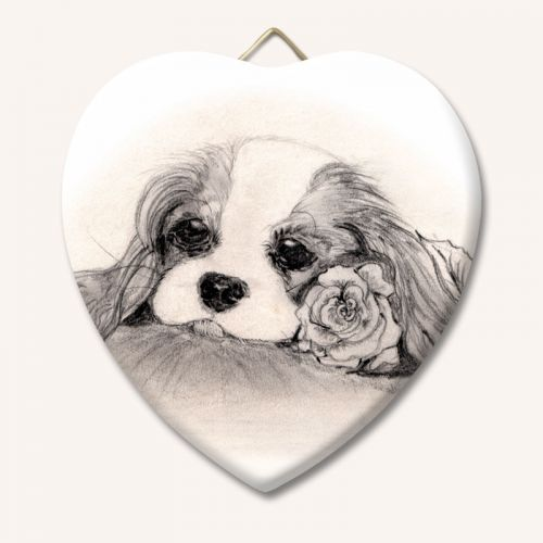 Blenheim Rose Ceramic Heart Keepsake