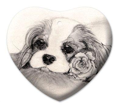 Blenheim Rose Ceramic Heart