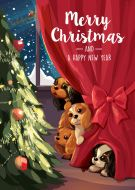 Taking a Peek Christmas Card 5-Pack