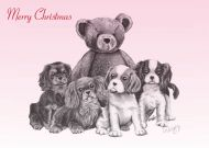 Hands Off Our Teddy Christmas Card 5 Pack
