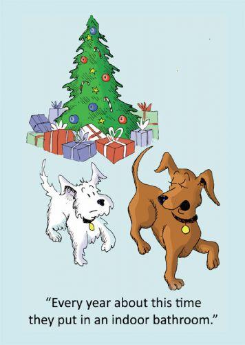Ensuite Bathroom Christmas Card 5 Pack