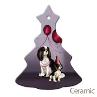 Christmas Tree Decoration Mum & Pup Ceramic