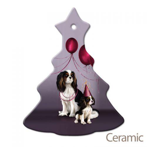 Christmas Tree Decoration Mum & Pup Ceramic
