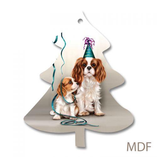 Christmas Tree Decoration Mum & Pup MDF