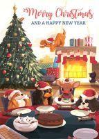 A Christmas Cavalier Dinner A5 Single Card