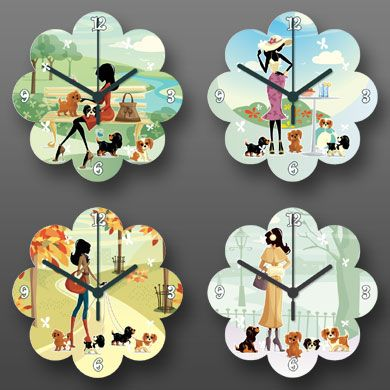 Four Seasons Flower Clock