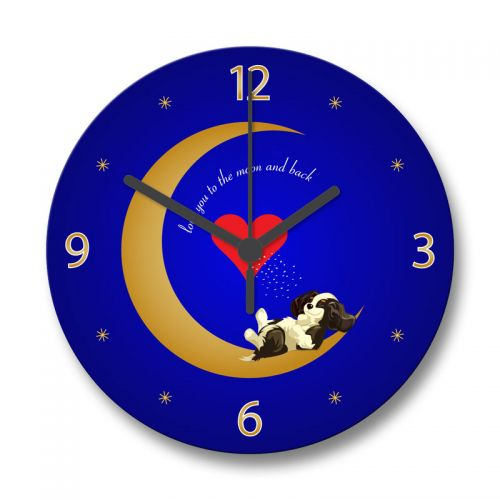 Love You to the Moon Clock