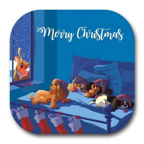 Christmas Eve Sleeping Beauties Coaster