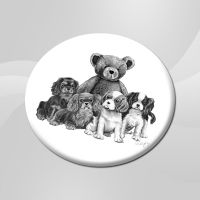 Hands off our Teddy ceramic coaster