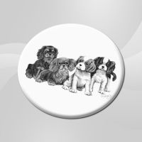 Ceramic Pencil Pups Coaster