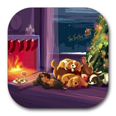 Sleepy Reindeer Coaster