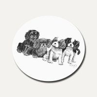 Pencil Puppies Coaster