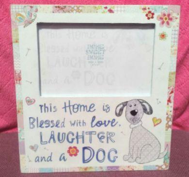Home Sweet Home Dog Photo Frame