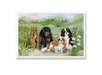 Flower Girls Fridge Magnet