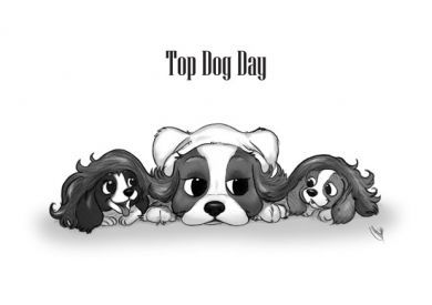 Top Dog Fathers Day Card